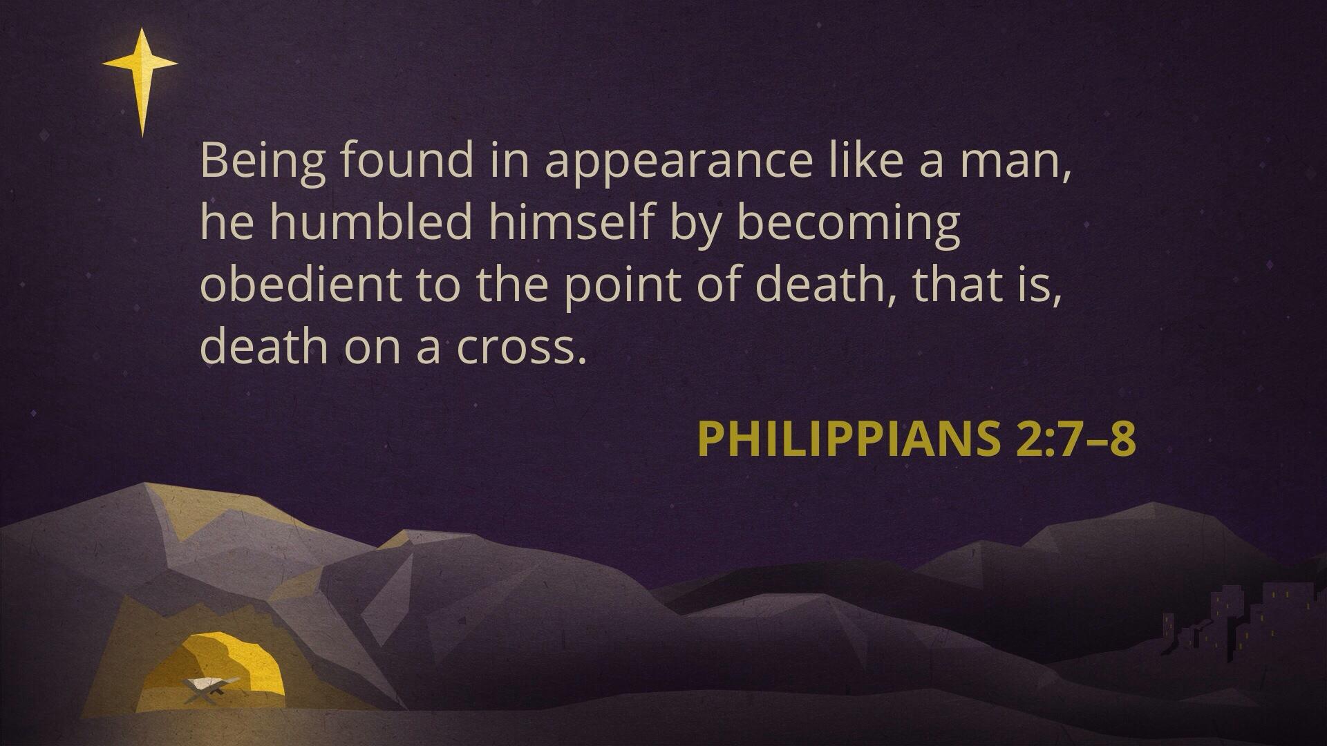 Philippians 2: 8