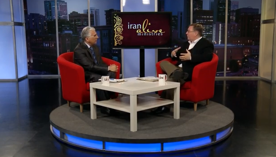 "Hormoz Shariat, the ""Billy Graham of Iran,"" and I discuss the Gospel on live satellite TV broadcast into the Persian speaking world."