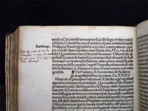 Luthers handschriftlicher Eintrag der Lebensdaten der Heiligen Elisabeth in dem Sammelband mit der Signatur 75.2 Quod.