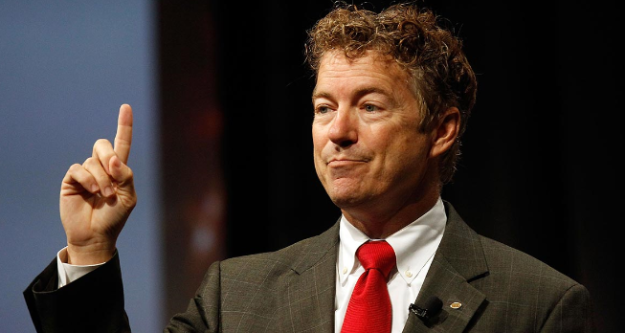 """Sen. Rand Paul is engaging in one """"epic flip flop"""" after another.  Troubling views and troubling behavior for a GOP frontrunner. (photo credit: Politico)"""