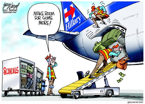 Cartoonist Gary Varvel: Is there room for Hillary's latest scandal?