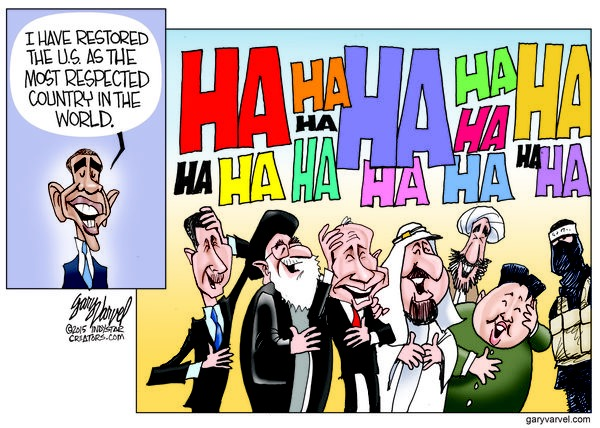 Cartoonist Gary Varvel: Obama restored U.S. respect?