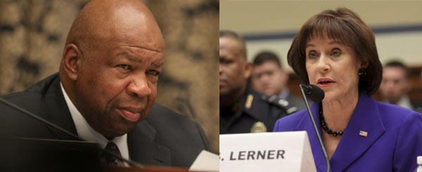 Here's Democrat Elijah Cummings with his good friend Lois Lerner