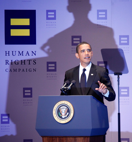 Obama speaks to the Human Rights Campaign