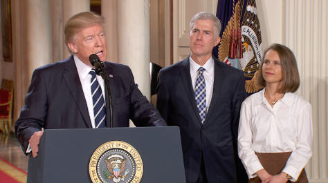 Trump picks a strict constructionist for Supreme Court vacancy