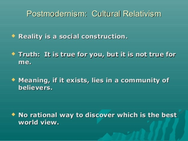 Can a person be postmodern and a Christian? Not for long