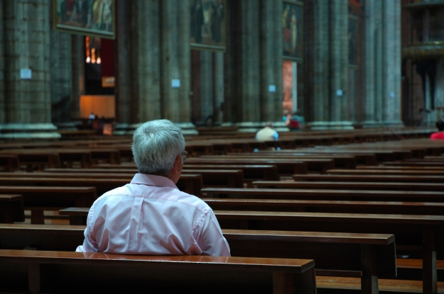 man-in-church-alone