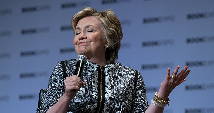 Former Secretary of State Hillary Clinton speaks during the Book Expo event in New York Thursday, June 1, 2017