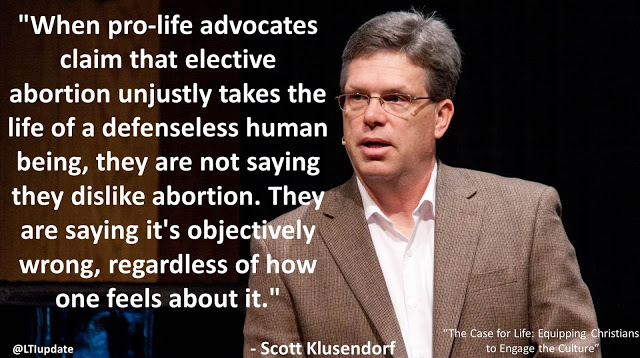 "Quote from Scott Klusendorf's book ""The Case for Life""- ""When pro-life advocates claim that elective abortion unjustly takes the life of a defenseless human being, they are not saying they dislike abortion. They are saying it's objectively wrong, regardless of how one feels about it."" #Abortion #ProLife #ProChoice #ChooseLife #Morality #Politics"