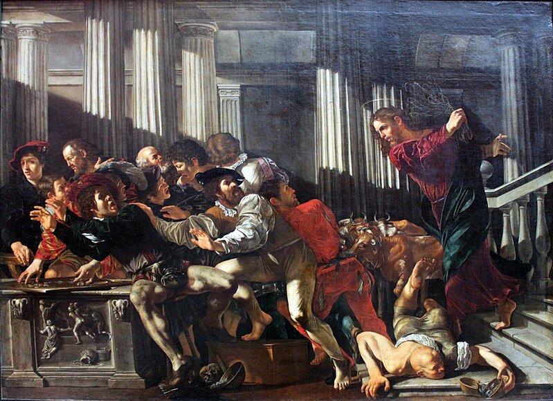 800px-1610_Cecco_del_Caravaggio_Christ_expulses_money_changers_anagoria.jpg