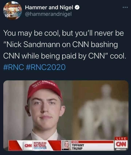 You can bet that CNN leftists aren't too happy to see his smirky face again