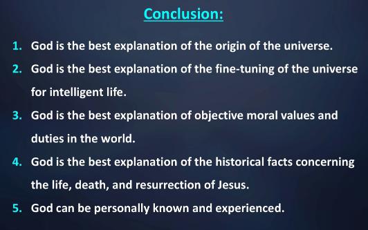 Dr. Craig's opening speech summary slide