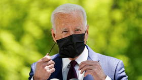 'I'm in trouble': Fully-vaccinated Joe Biden struggles to find mask during outdoor speech (VIDEO)