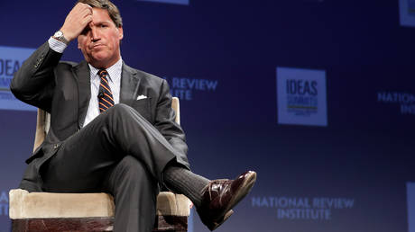Fox News host Tucker Carlson at the National Review Institute's Ideas Summit in Washington, DC March 29, 2019.
