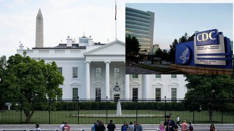 The White House criticized the media for quoting the CDC (inset), July 30, 2021
